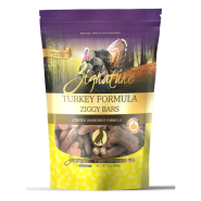 Zignature Dog Ziggy Bars LID Turkey & Pumpkin Treats 12 oz
