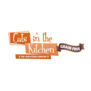 "Cats in Kitchen 11"" x 3"" Grain Free Can Shelf Talker"