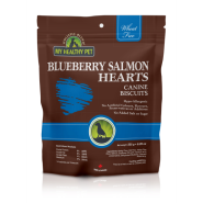 HB Dog Blueberry Salmon Hearts Treats 235 gm
