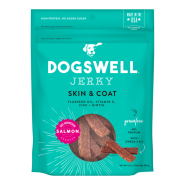 Dogswell Jerky GF Skin & Coat Salmon Treats 10 oz