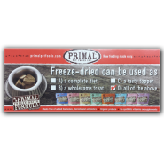 Primal Freeze Dried Shelf Talker