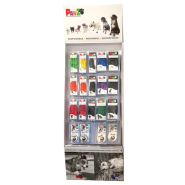 Pawz Floor Display Color & Black Boots with Max Wax 62 pc