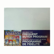 Valens Frequent Buyer Shelf Talker
