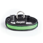 Energizer Dog Blaze USB Collar Green SM