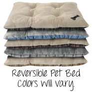 Reversible Pet Bed Colours Will Vary 30x40""