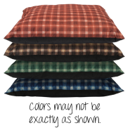 Pet Bed XL Pillow Assorted Colors 35x44 Dump Bin 12 ct
