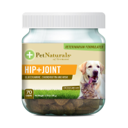 Pet Naturals Hip + Joint Chews for Dogs & Cats 70 ct jar