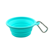 Foufou Silicone Collapsible Travel BowlTeal SM