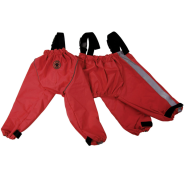 Foufou Bodyguard Protective All-Weather Dog Pants Red 2XL