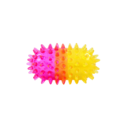FouFIT Pill Spiker TPR Dog Chew Toy Pink/Yellow SM