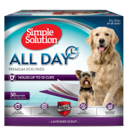 "Simple Solution All Day Premium Dog Pads 23""x24"" 50 ct"