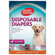 Simple Solution Disposable Diapers L/XL 12 pk
