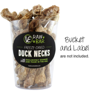 Vital Essentials Raw Bar Freeze Dried Duck Necks 24 ct