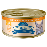 Blue Cat Wilderness WildDelights GF Flkd Chkn&Trky 24/5.5 oz
