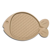 Bella Spill Proof Fish Shaped Cat Mat Tan