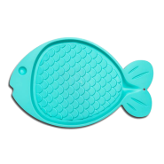 Bella Spill Proof Fish Shaped Cat Mat Green