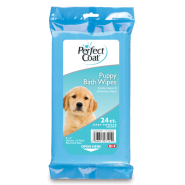Perfect Coat Puppy Bath Wipes Flow Wrap 24 ct