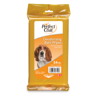 Perfect Coat K9 Bath Wipes Deodorizing Flow Wrap 24 ct