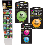 Spunky Pup Fetch & Glow Ball Display LG/MED/SM 48 ct