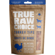 TRC Dog/Cat Dehydrated Raw Treats Turkey Tips w/ Cran 128 g