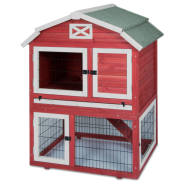 Precision Old Red Barn Rabbit Hutch 32.7x37.4x49.5""