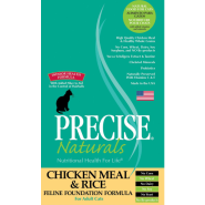 Precise Naturals Cat Foundation Chicken & Rice 15 lb