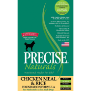 Precise Naturals Dog Foundation Chicken/Rice 15 lb