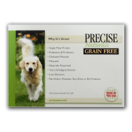 Precise Naturals Dog GF Shelf Talker