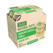 VitaLife Natural Diets Dog GF Chicken w/ Vegetables 3/100 gm