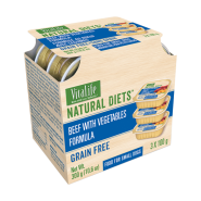 VitaLife Natural Diets Dog GF Beef w/ Vegetables 3/100 gm