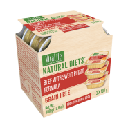 VitaLife Natural Diets Dog GF Beef w/ Sweet Potato 3/100 gm