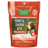 VitaLife Freeze Dried Treats Turkey & Chicken Bites 122 gm