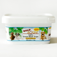 Bold Raw Dog Beef Tripe 2 lb Tub