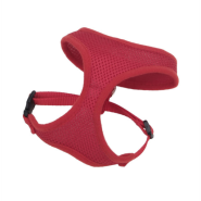 "ComfortSoft Adj Harness 3/8x14-16"" Red XXSmall"