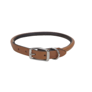 "CircleT Oak Tanned Leather Round Collar 5/8x16"" Tan"