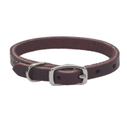 CircleT Latigo Leather Town Collar 3/8x12""