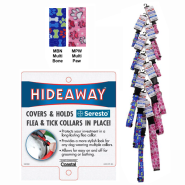 Hideaway Collar Clip Strip Fashion Colors 12 Ct