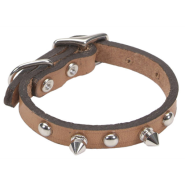 "CircleT Oak Tanned Leather Spk Collar 3/8x10"" Tan"