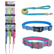 Lazer Brite & Pet Attire Pro Combo Collar & Leash Display