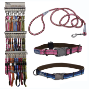 K9 Explorer Five Colour 3-Tier Collar & Leash Display