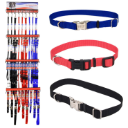 Coastal Nylon Collar and Leash Display (choose 3 colors)
