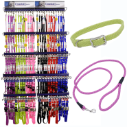 Coastal Six Colour Collar and Leash Display