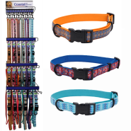 Ribbon Weave 6 Color Collar & Leash Display