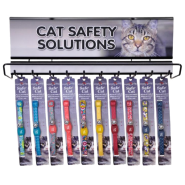 SafeCat Magnetic Buckle Cat Collar Display