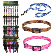 Remington Camo Collar & Leash Display