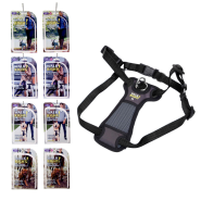 Walk Right Front-Connect Harness Display Pink & Blk 8 ct