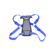 "Walk Right Front-Connect Padded Harness 27""-43"" Blue XL"