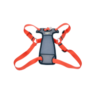 "Walk Right Front-Connect Padded Harness 27""-43"" Red XL"