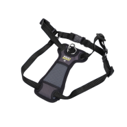 "Walk Right Front-Connect Padded Harness 20""-30"" Black Medium"