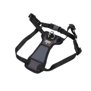 "Walk Right Front-Connect Padded Harness 16""-24"" Black Sm"